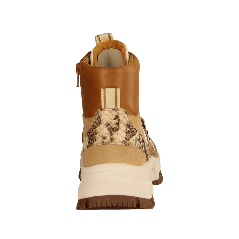 53571-24 Caramel/Weiss (beige) - ungefütterte Stiefelette