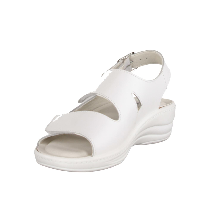 161 Weiß - Sandale mit loser Einlage Weiß