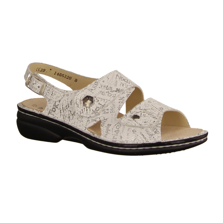 684090-893 Offwhite/Silber (weiß) - Sandale mit loser Einlage