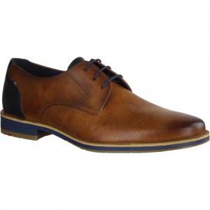 Gherom Cocos/Blau (braun) - eleganter Schnürschuh
