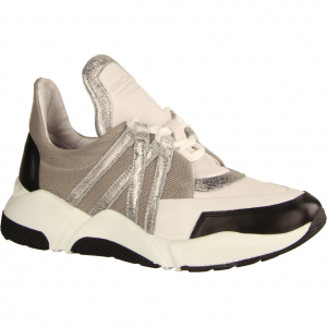 2461 White Silver (weiß) - sportlicher Schnürschuh