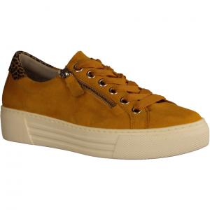 46465-22 Mango/Natur (gelb) - sportlicher Schnürschuh