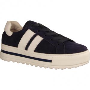 46495-36 Bluette/Weiss (blau) - sportlicher Schnürschuh