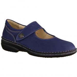 204798-340 Jeans (blau) - Slipper mit loser Einlage