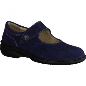 Inge 204725-340, Blau Jeans - Slipper mit loser Einlage