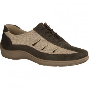 Henni 496020-247 Basalt/Silber (grau) - Schnürschuh mit loser Einlage