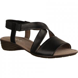 44550-27 Schwarz - elegante Sandale