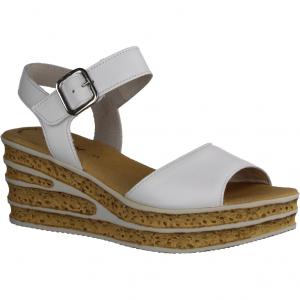 22841-50 Weiß - elegante Sandale Weiss