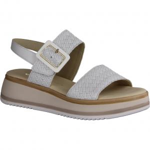 21702-21 Weiß - elegante Sandale