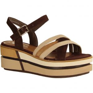 28014-385 Cafe Kombi (braun) - elegante Sandale