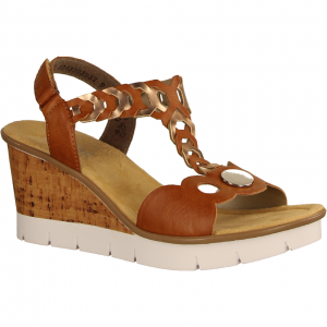 V55H4-24 Braun Kombi - elegante Sandale