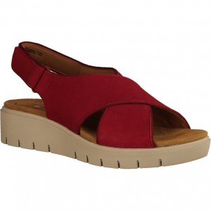 Un Karely Sun Red - elegante Sandale (rot)