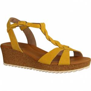 7597-026 Mango (gelb) - elegante Sandale Mango