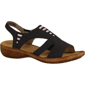 608Y7-14 Dunkelblau - elegante Sandale