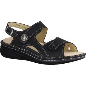 204777-100, schwarz - Sandale mit loser Einlage