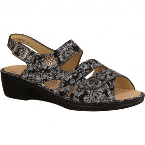 Aversa Nero (schwarz) - Sandale mit loser Einlage