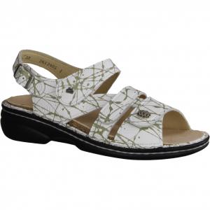 Ramona R9045-101, Weiss-Silber (weiß) - Sandale mit loser Einlage
