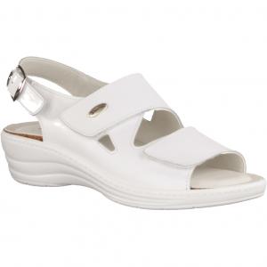 161 Weiß - Sandale mit loser Einlage