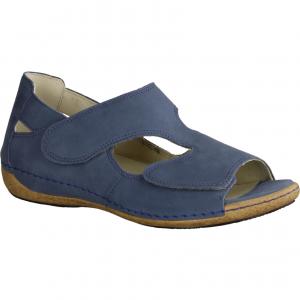 Gina 200142-340, Blau Jeans - Sandale mit loser Einlage