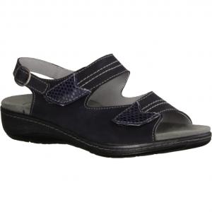 411 Marine (blau) - Sandale mit loser Einlage