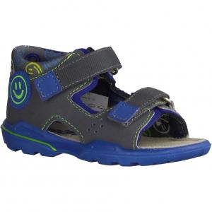 Freddy 00144-25, Grau/Gelb Hellgrau/Gelb - Sandale für Jungen Baby