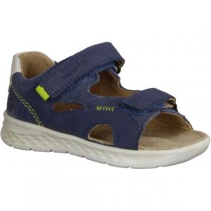 Manti 3221500555 (blau) Nautic/Neongrün - Sandale für Jungen Baby