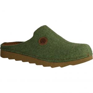 Kaprun Rivet 1011795 Doubleface Khaki (grün) - Hausschuh mit Stoff oder Filz