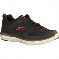 Skechers Flex Advantage 52189-CCRD Charcoal/Red (grau) - Sneaker