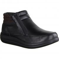 640 Schwarz - ungefütterter Stiefel