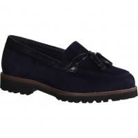 Gabor 34100-36 Pazifik/Cognac (blau) - Ballerina
