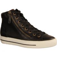 4024-027 Black/Cognac (schwarz) - sportlicher Schnürschuh