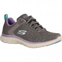 Skechers Flex Appeal 149307-GYL Gray/Lavender (grau) - sportlicher Schnürschuh