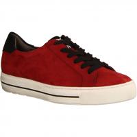 Paul Green 4835-055 Chilli/Schwarz (rot) - sportlicher Schnürschuh