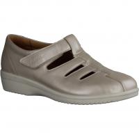 Ganter Inge 204739-040 Offwhite (beige) - geflochtener Slipper