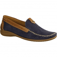 Gabor Comfort 26090-46,Blau/Braun Navy/Copper  - Slipper Navy/Copper