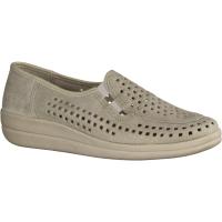 430 Seidengrau (grau) (beige) - Slipper mit loser Einlage