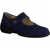 Ganter Inge 204725-340,Blau Jeans - Slipper mit loser Einlage