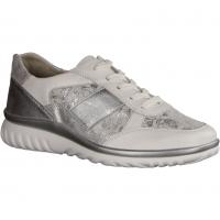 Lena L5015-101 Weiss/Silber (weiß) - Schnürschuh mit loser Einlage