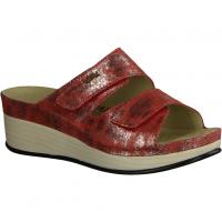 Finn Comfort Menorca-Soft,Rot Red - Pantolette mit loser Einlage