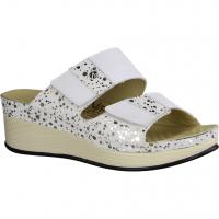 Rieker 60885-80 Weiss (weiß) - Pantolette