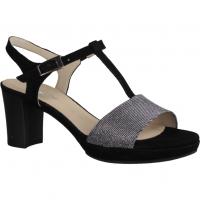 Gabor Comfort 82391-27 Argento/Schwarz - elegante Sandale