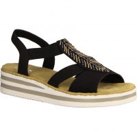 Rieker V02C1-00 Schwarz - elegante Sandale