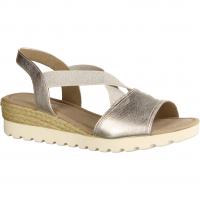 Gabor Comfort 82753-81 Silber (Jute) (grau) - elegante Sandale