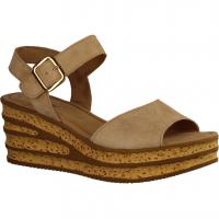 24 Fregene Nero (beige) - elegante Sandale