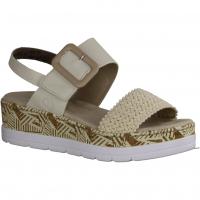 Paul Green 7476-024,Rose Sisal/Rosewood (beige) - elegante Sandale
