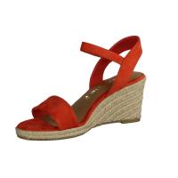 Paul Green 7498-014, Rot Red/Pink - elegante Sandale
