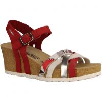 Mephisto Lanny Rot/weiß/Silber - elegante Sandale