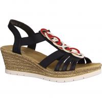 619F6-14 Blau - elegante Sandale
