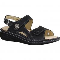 Ganter 204777-100,schwarz - Sandale mit loser Einlage