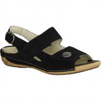 Semler Dunja D4145-001,Schwarz - Sandale mit loser Einlage